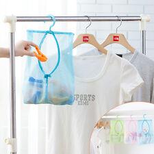 Laundry Basket Mesh Bin Tidy Storage Toys Fold-able Cloth Washing Bag Orga UKWG