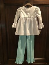 Girls Shrimp & Grits Ruffle Pants and Top: Size 9: Preowned: No Stains/defects