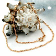 Goldkette 585 Gold Rosegold 14 Karat Halskette Anhängerkette Collier 50 cm