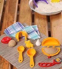 7 Pcs Plastic Food Mould Combo for Kachori, Karanji, Ladoo, Modak, Prasad Scoop