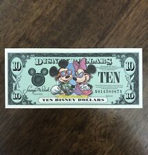 2001 $10 A series Disney Dollars Disneyland Mickey & Minnie A01458987A Rare