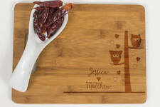 Owl Couple cutting board, Kitchen decor,Personalized Cutting Board, Wedding Gift