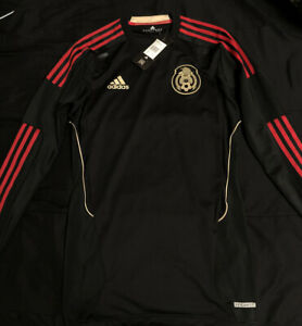 Adidas Mexico Player Issue M Long Sleeve Techfit Away Soccer Jersey