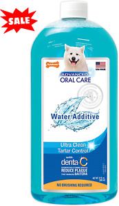 Water additive for Pets Fresh Dog Breath Teeth Plaque Tarter Removal Dental Care