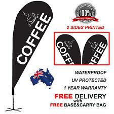 4.5m BLACK COFFEE Teardrop Flag Banner Kit Outdoor CLBLK310