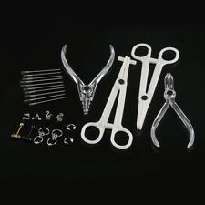Paris Surgical Steel Body Labret Navel Ball Piercing Jewelry + Tools Kits