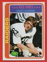 1978 Topps #50 Dave Casper PACK FRESH MINT Oakland Raiders Hall of Fame FREE S/H