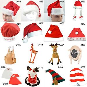 Novelty Christmas Santa Elf Turkey Hat Xmas Fancy Dress Party Accessories Lot