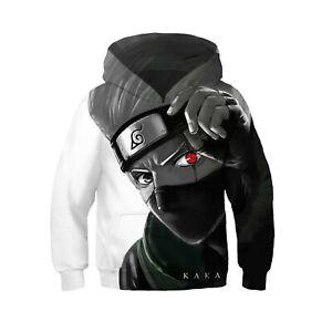 Kids NARUTO0 Hoodie Coat Boy Pullover Sweatshirt Cosplay Costume Gifts new