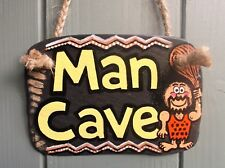 MAN CAVE HANDCRAFTED SLATE SIGN HOME GARDEN HIM DAD SON HUSBAND GIFT IDEA