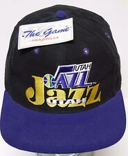 2a984906049 NEW Vintage 1990s UTAH JAZZ NBA BASKETBALL THE GAME SNAPBACK HAT CAP   1865 2000