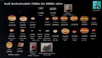Audi historische Abzeichen Anstecknadeln 1960er bis 2000er Jahre AUSSUCHEN