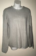 Junior Size M Pullover Sweater Solid Gray Crew Neck BONGO NWT