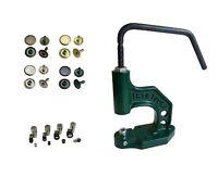 Set Spindelpresse mit Hohlnieten Einzelkopf 6mm, 7mm, 9mm, 12mm Stahl
