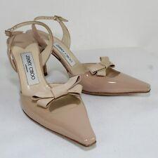 JIMMY CHOO Ladies Slingback Beige Patent Leather Heels Size US 6.5/EU 36.5