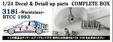 Studio27 CP24004 1:24 BMW 318i Warsteiner #6/#22 BTCC 1993 Decal&Parts