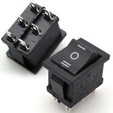 6 Pin DPDT Rocker Switch ON-OFF-ON Boat 3 Position 16A 250VAC 20A 125VAC