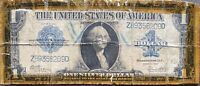 USA 1 Dollar 1923 Banknote Large Size US Silver Certificate Schein One  #22079