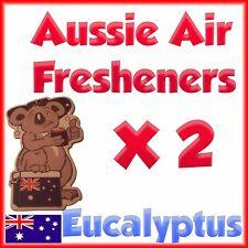 Car Air freshener home truck deodoriser Eucalyptus scent Twin pack