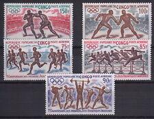 CONGO 1971 Sport 75° Anniversario Giochi Olimpici Moderni MNH** Yvert A129-33