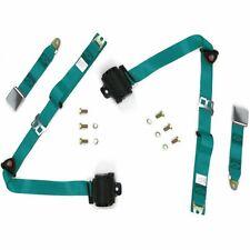 2Set Adjustable AQUA Retractable Car Seat Belt Lap Belt 3Point Safety Universal