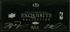 2007 UD Exquisite Coll. Empty Box Michael Jordan LeBron James AUTO /23 LOA COA