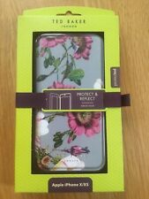 Ted Baker Grey Floral Mirror Folio Apple iPhone X/XS Phone case Protect&Reflect