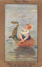 POSTCARD   CHILDREN   Peter  Pan  Related    Sea Bird's  nest       BARHAM