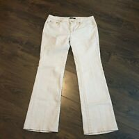 ROBERTO CAVALLI Cream Ivory Jeans Trousers Women's Size 46 eu 16 uk
