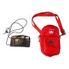 Vintage Marlboro Canon Sure Shot Owl AF 35mm Camera with a Red Carrying Case Bag