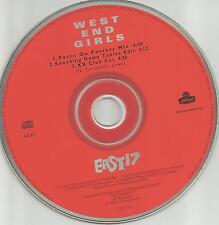 EAST 17 West End Girls 2RARE MIXES & EDIT PROMO Radio DJ CD single Pet Shop Boys