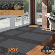 Indoor Outdoor Area Rug 6x8 Large Carpet Modern Durable Patio Deck Charcoal