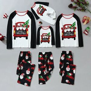 Merry Christmas Family Matching Pyjamas Sleepwear Gnome PJ Set Festive Nightwear