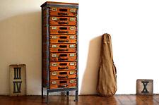 Schubladenschrank Art Deco Schrank Loft Antik Apothekerschrank Holz Fabrik Alt