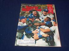 1992 NOVEMBER 2 SPORTS ILLUSTRATED MAGAZINE - CANADA'S TEAM: BLUE JAYS - SP 9111
