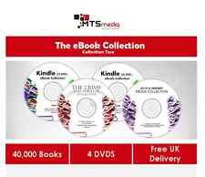 40,000+ EBOOK COLLECTION BUNDLE ON 4 DVDS CRIME THRILLER SCIFI FANTASY MIXED C2
