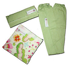 New BABYCHIC DESIGNS Green Spot & Floral Handle Bar Cover + Two Strap Covers