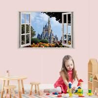 Disney Castle 3D Window Removable Wall Sticker Decal DIY Mural Kids Nursery