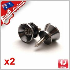 Guitar Strap Pin Lock Button Peg Strap lock x2
