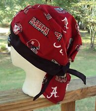 UNIVERSITY OF ALABAMA ROLL TIDE  DU RAG SKULL CAP BANDANA BIKER CHEMO CAP