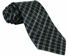 New Milani formal Men's Polyester Neck Tie Necktie Only plaid Blue Green Grey