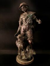 Beautiful & Most Rare 5 KG.+ Antique Boy & Dog Figure Cheap Price Don't Miss!!*