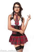 Sexy School Girl Britney Uniform Fancy Dress Halloween Costume Medium 8 10 12