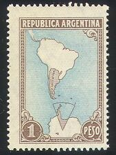 Argentina 1951 Map/Antarctic/S America/Polar 1v (n26654)