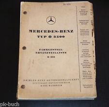 Catalogo Ricambi Mercedes Bus Tipo o 3500 Telaio Stand 1951/DIN-A-5