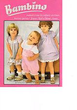 PUBLICITE  1980   BAMBINO    vetements enfants