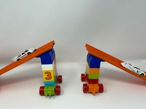 Angled Duplo to Hot Wheels 2 Lane Connector