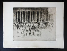 Joseph Pennell the pavement St. Paul's 1905 acquaforte etching firmato