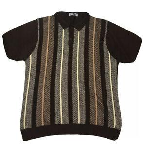 Michael Irvin 88 Mens Brown Short Sleeve Polo Shirt Sz 4XL