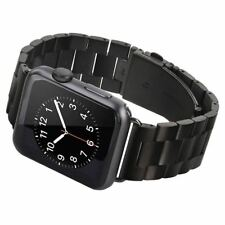 42mm Apple Watch Band Strap Stainless Steel Black iWatch Series 1 2